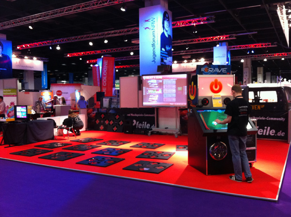 iDANCE at Gamescom in Germany